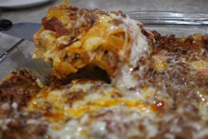Easy Bechamel Lasagna
