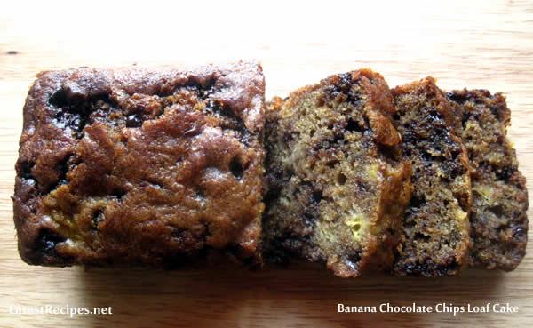 Banana chocolate loaf cake recipe