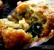 Blueberry Yogurt Corn Muffins