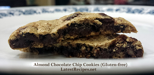 Almond Chocolate Chip Cookies (Gluten-free)
