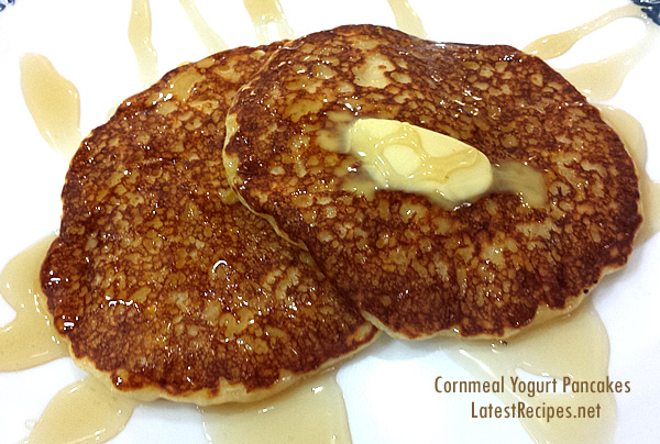 Cornmeal Yogurt Pancakes