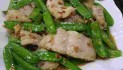 Garlic Fish Fillet and Snow Peas