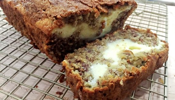 Banana Bread with Cheesecake Filling