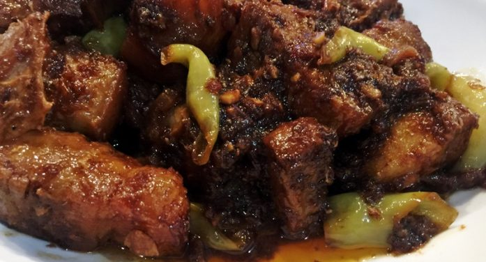 Pork Binagoongan (Pork in Shrimp Paste)