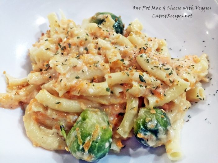 One Pot Mac & Cheese with Veggies