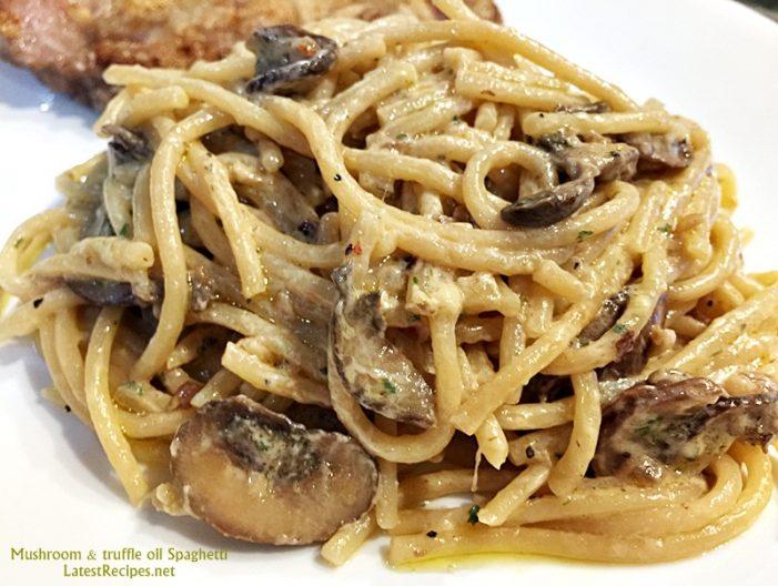 Creamy Mushroom & Truffle Oil Spaghetti