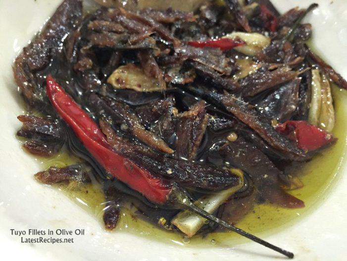 Tuyo in Olive Oil (Dried Herring Fillets in Olive Oil)