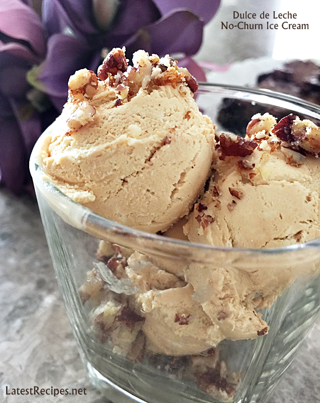Dulce de Leche No-Churn Ice Cream