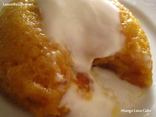 Mango Lava Cake